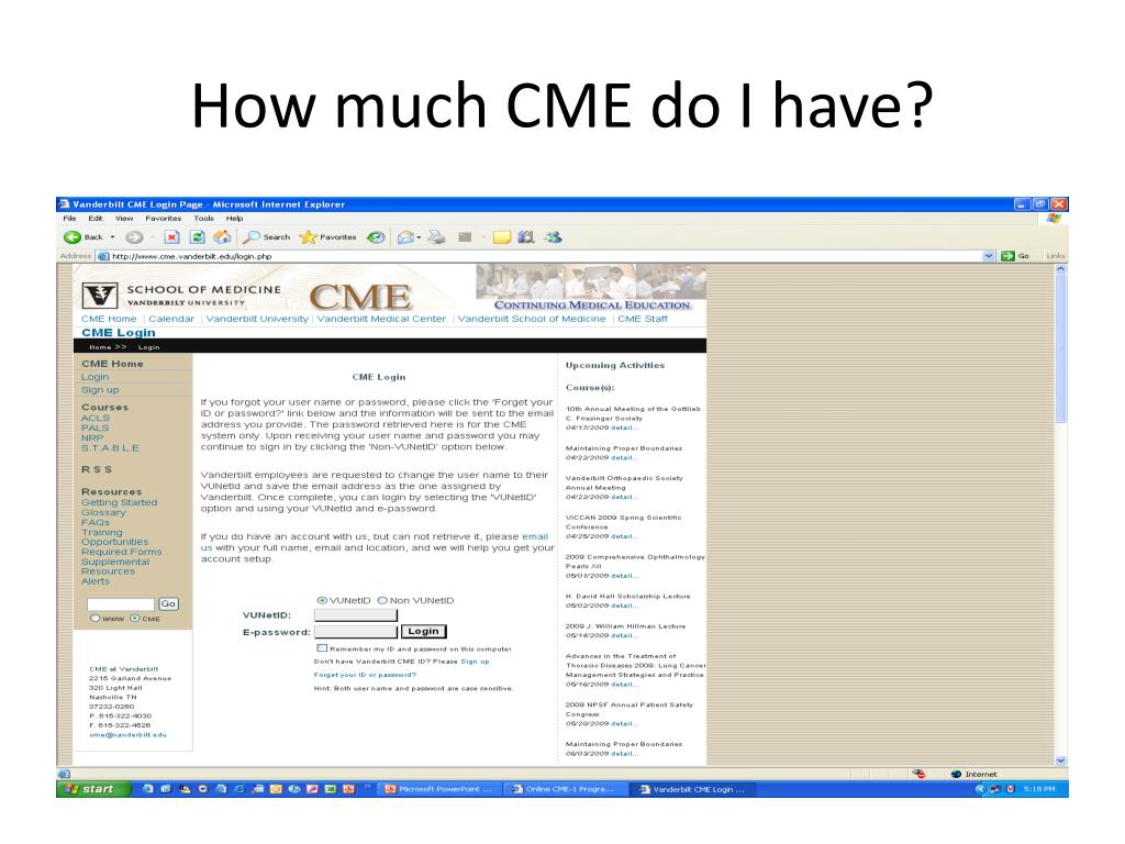 How much CME do I have?