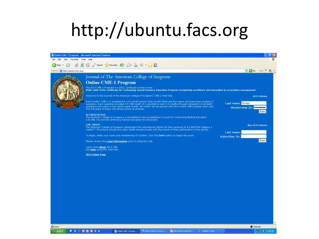 http://ubuntu.facs.org