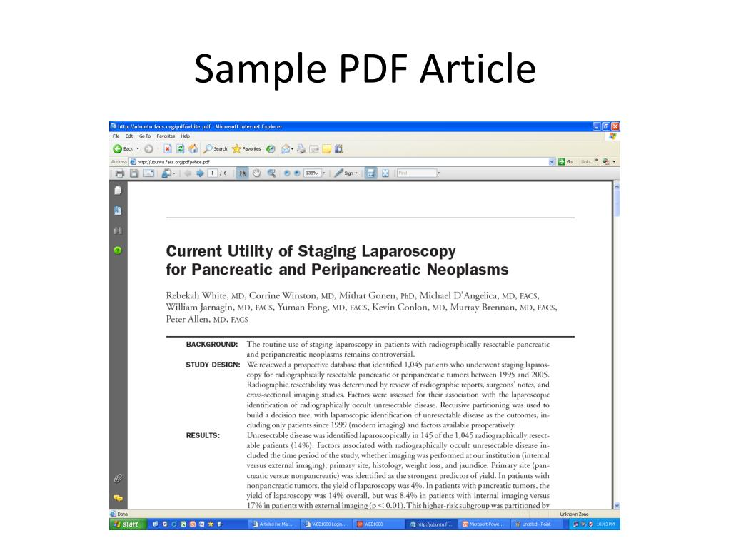 Sample PDF Article