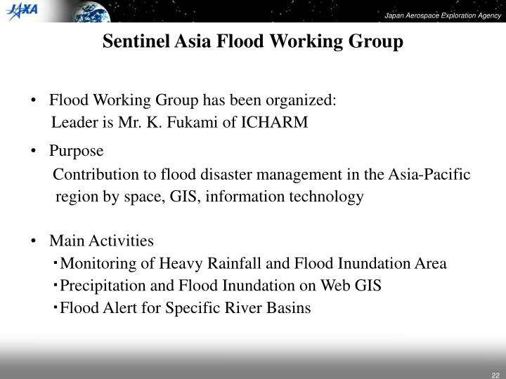 Sentinel Asia Flood Working Group