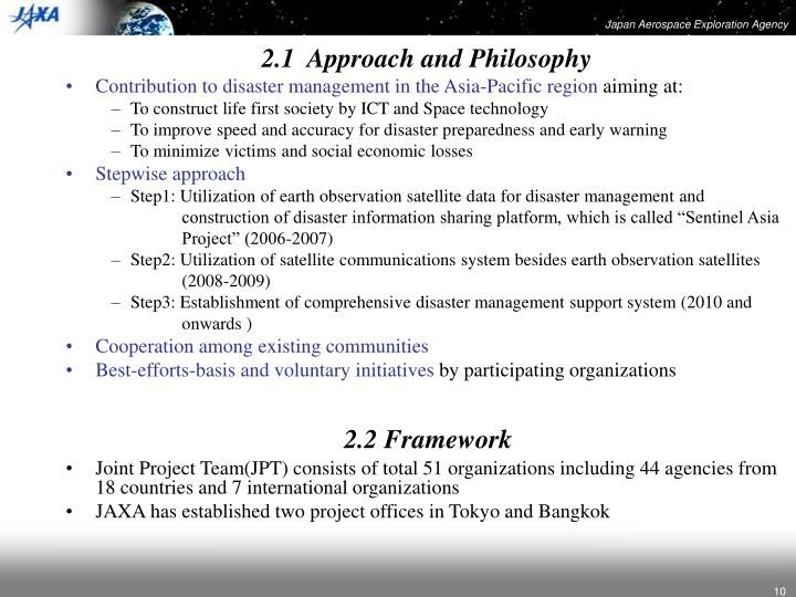 2.1  Approach and Philosophy
