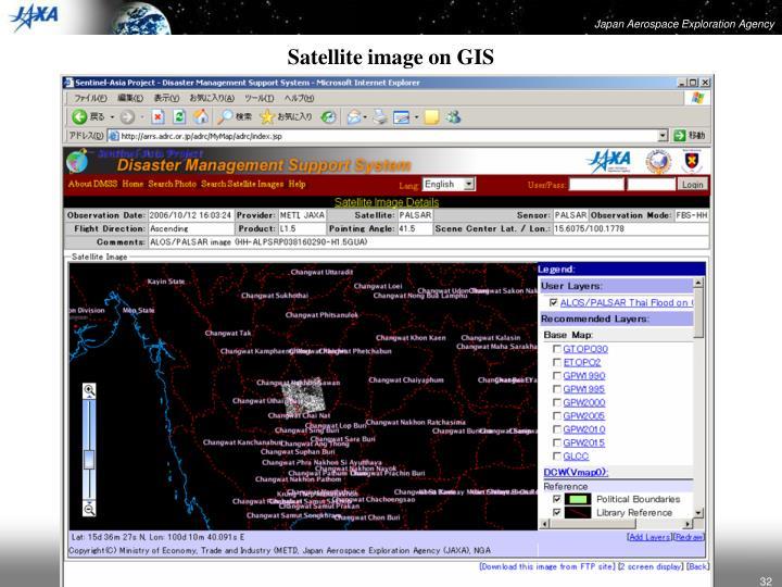 Satellite image on GIS