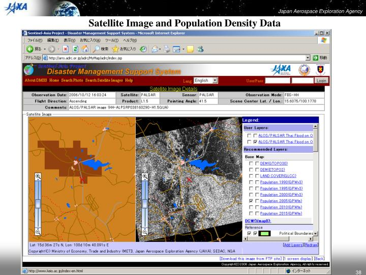 Satellite Image and Population Density Data