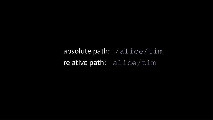 absolute path: