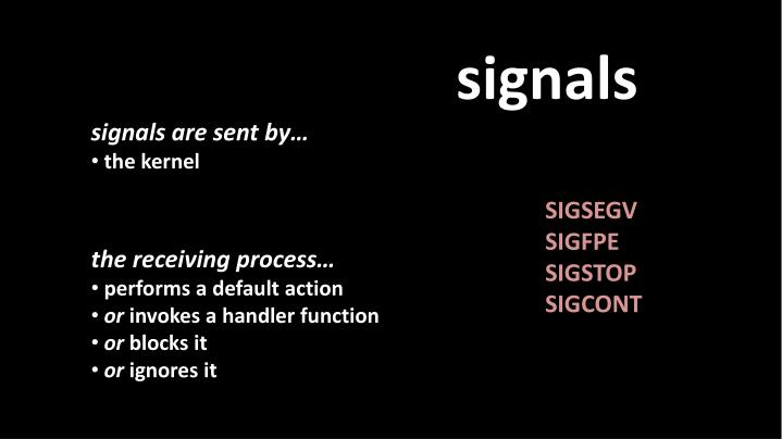 signals are sent by…