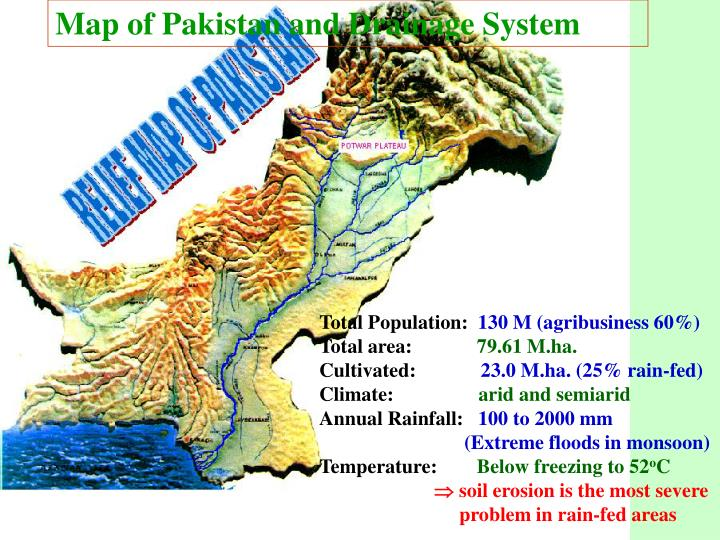 Map of Pakistan and Drainage System