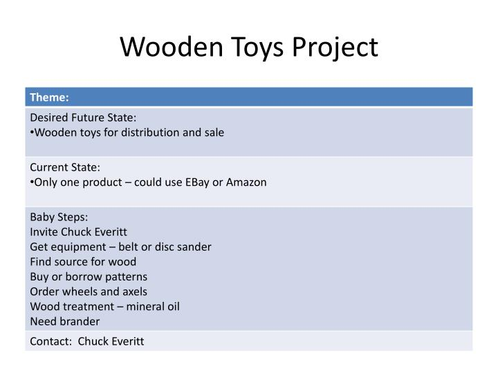 Wooden Toys Project