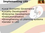 implementing led