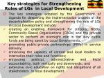 key strategies for strengthening roles of lgs in local development