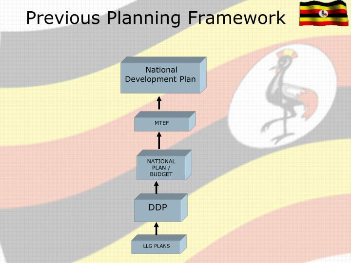 Previous Planning Framework