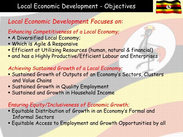 Local Economic Development - Objectives