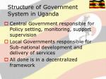 structure of government system in uganda