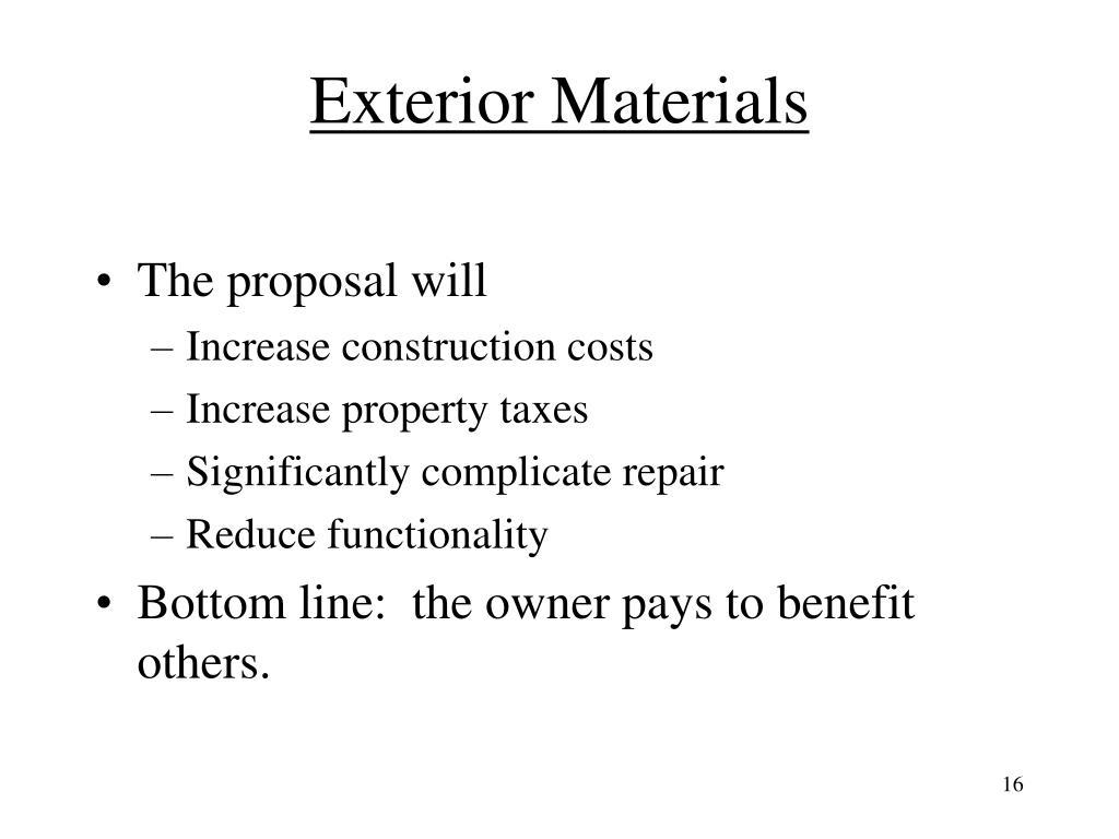 Exterior Materials