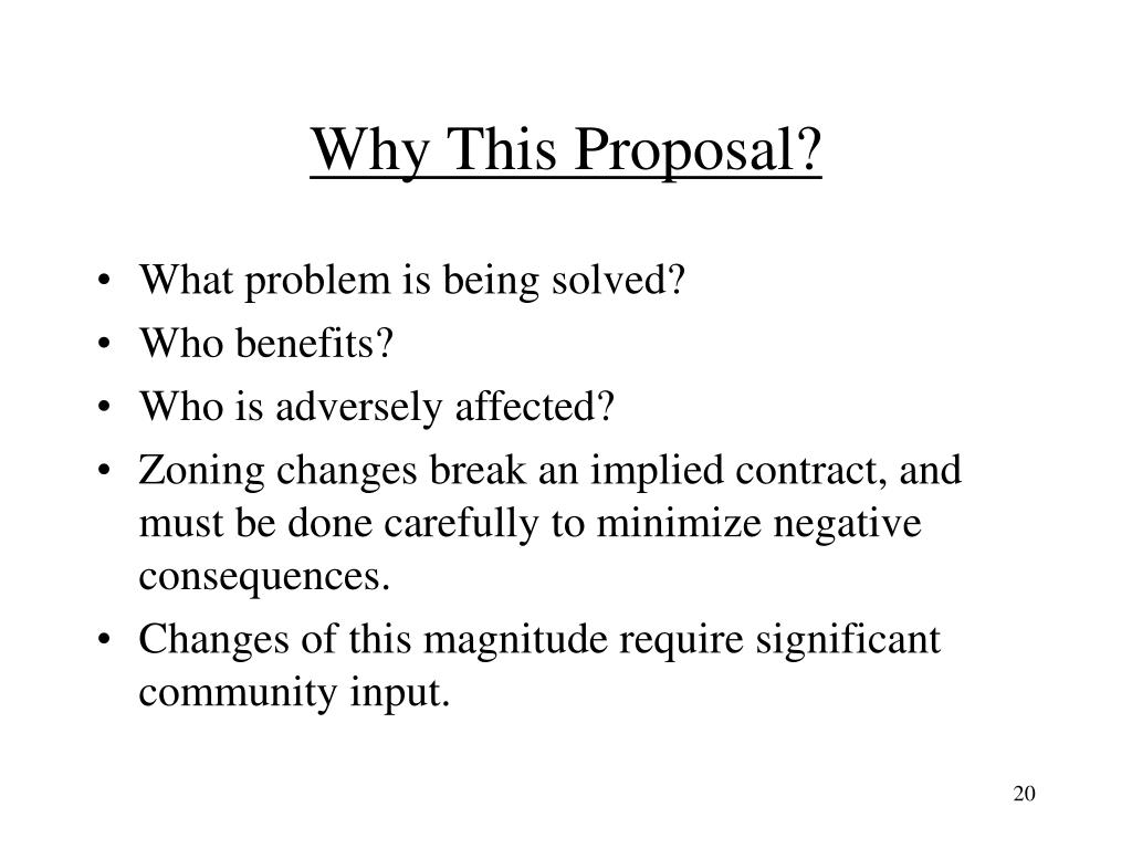 Why This Proposal?