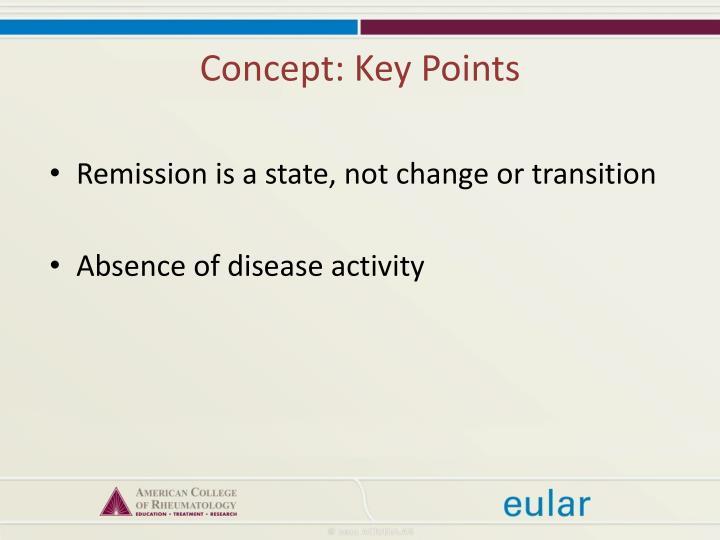Concept: Key Points