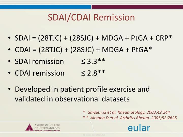 SDAI/CDAI Remission