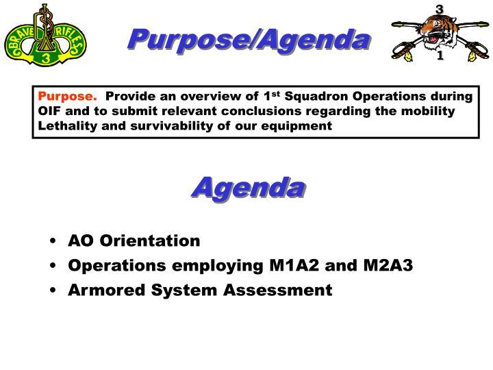 Purpose/Agenda