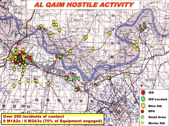 AL QAIM HOSTILE ACTIVITY