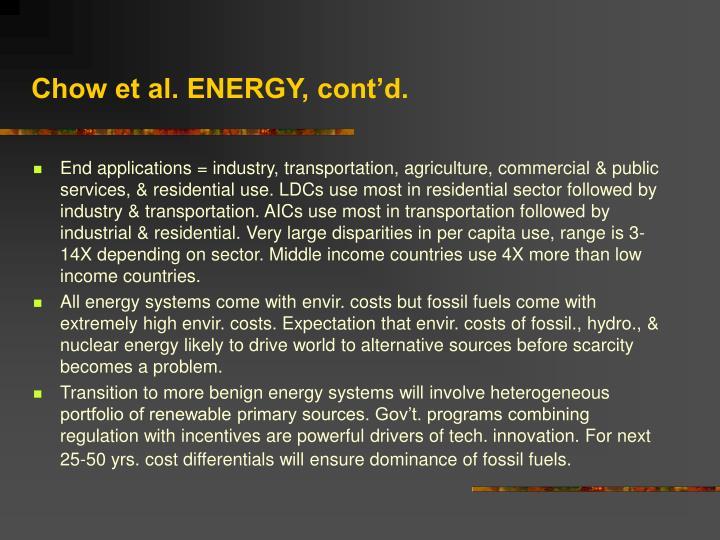 Chow et al. ENERGY, cont'd.