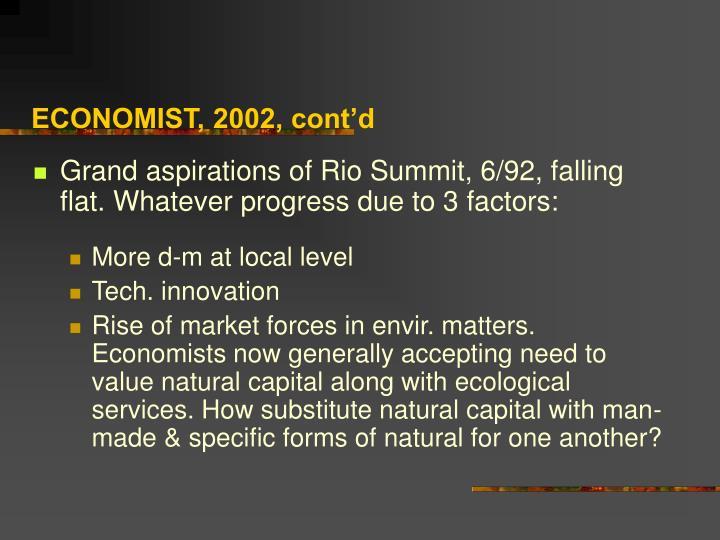 ECONOMIST, 2002, cont'd