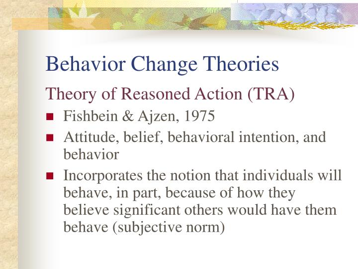 Behavior Change Theories