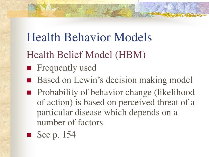 Health Behavior Models