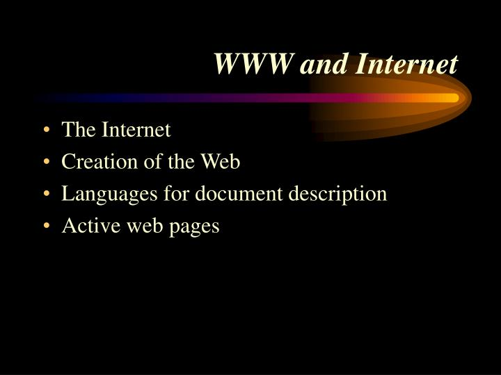 Www and internet