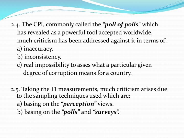 2.4. The CPI, commonly called the