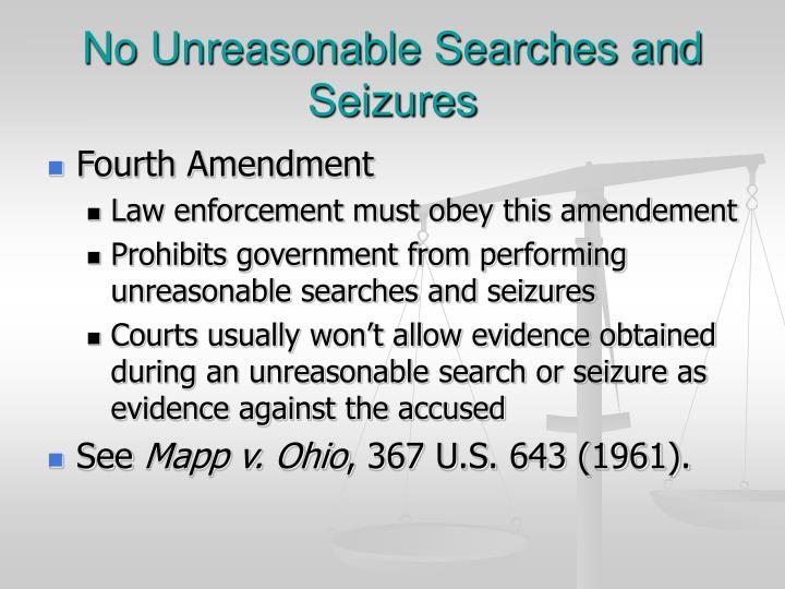 unreasonable search and seizure essay
