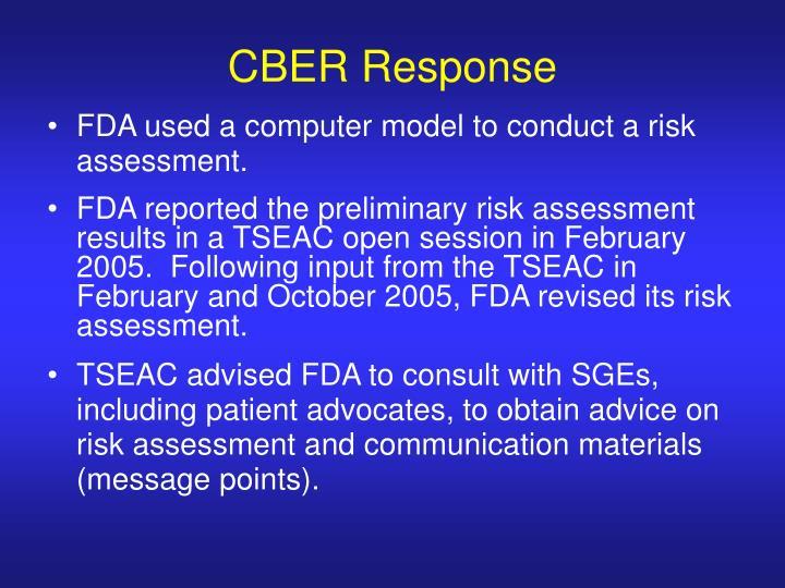 CBER Response