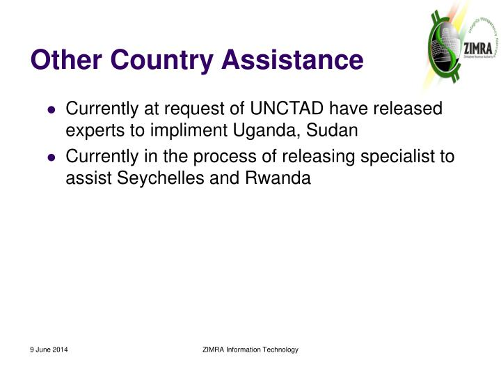 Other Country Assistance