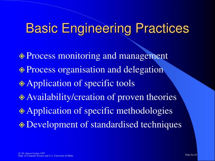 Basic Engineering Practices