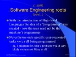 cont software engineering roots cont