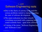 cont software engineering roots