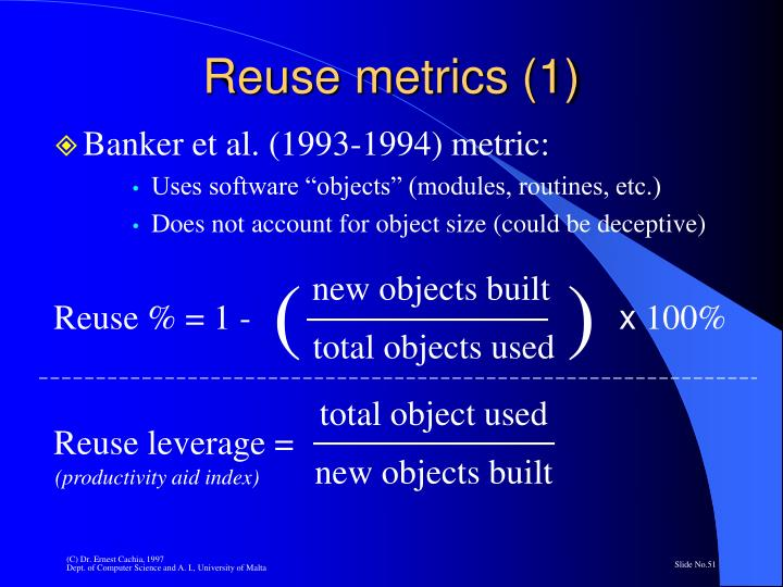 Reuse metrics (1)