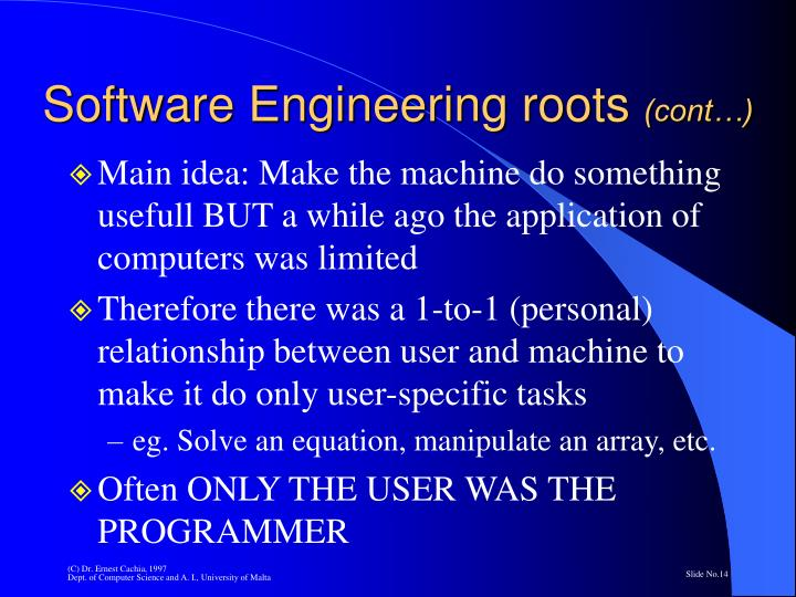 Software Engineering roots