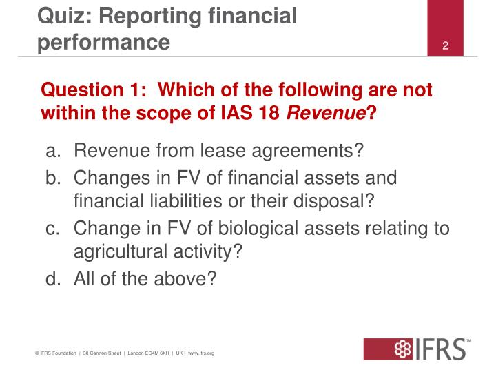 Quiz reporting financial performance1