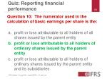 quiz reporting financial performance23