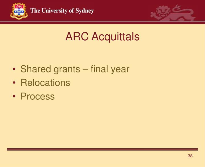 ARC Acquittals