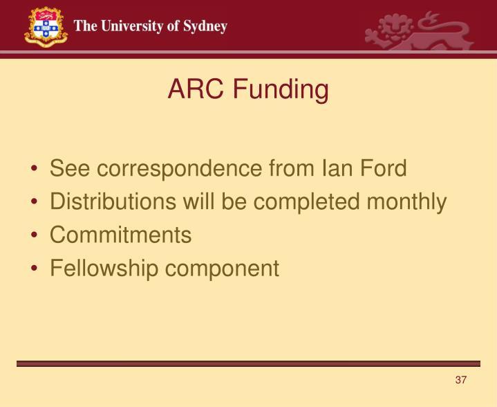 ARC Funding