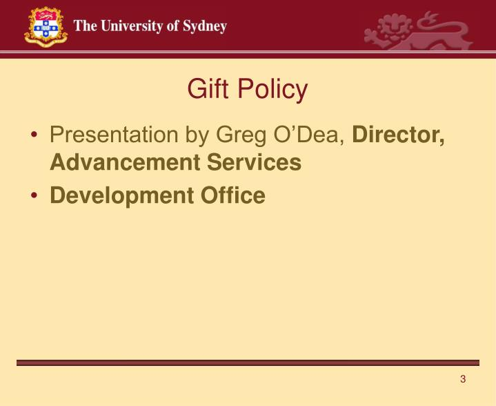 Gift Policy