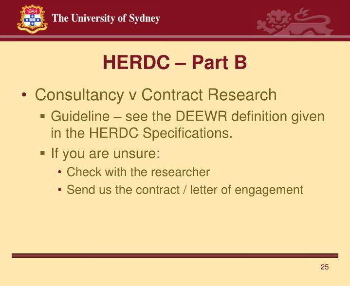 HERDC – Part B