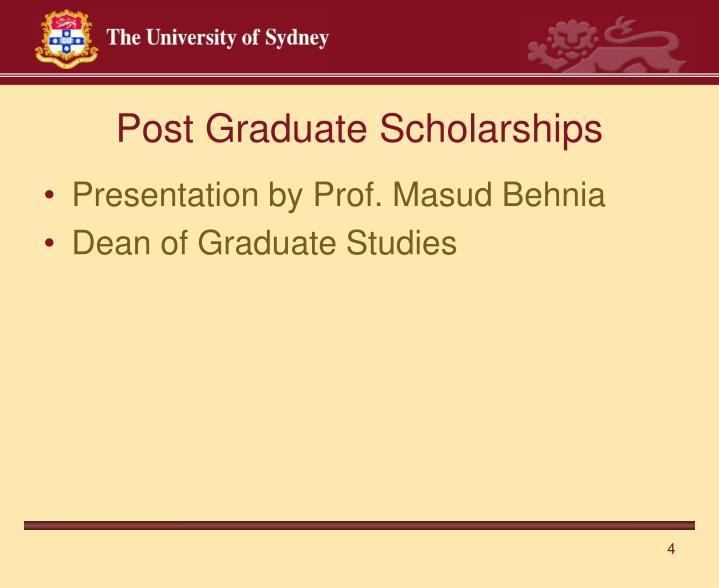 Post Graduate Scholarships