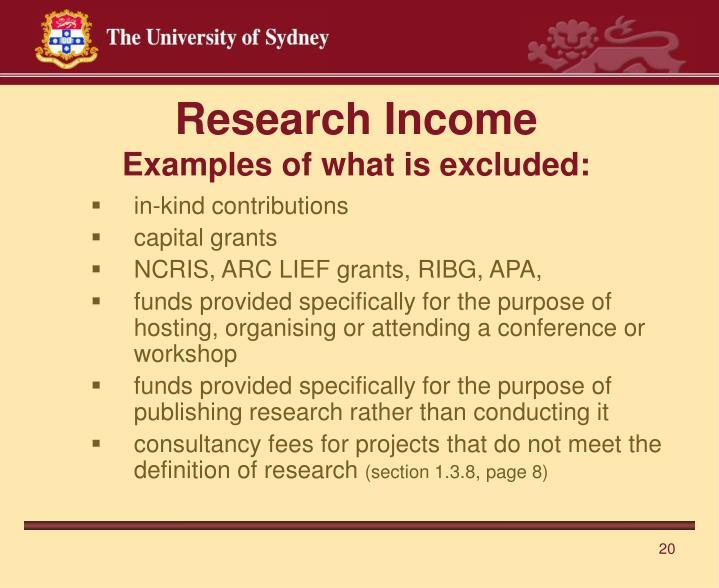 Research Income
