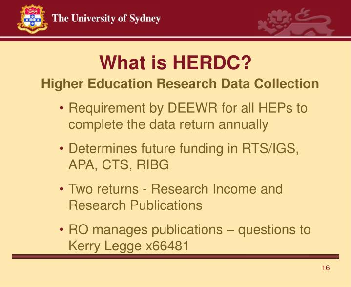 What is HERDC?