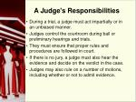 a judge s responsibilities