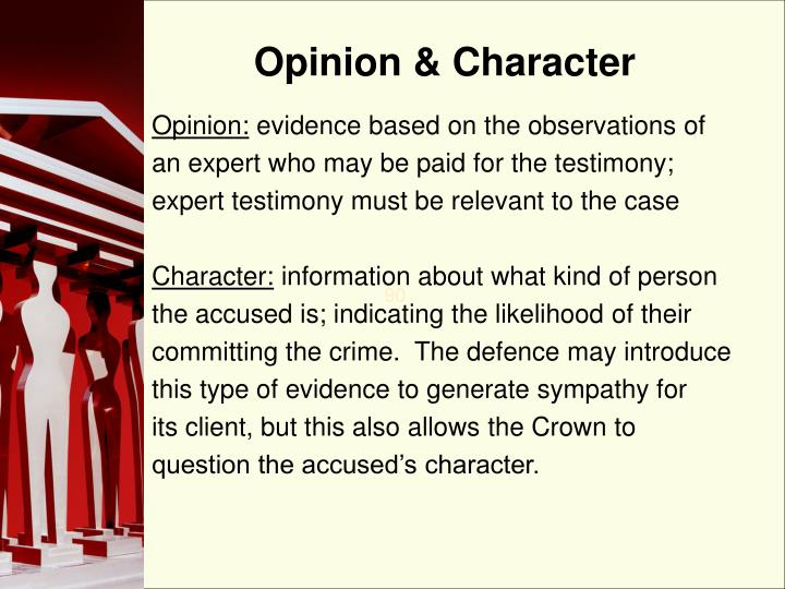 Opinion & Character