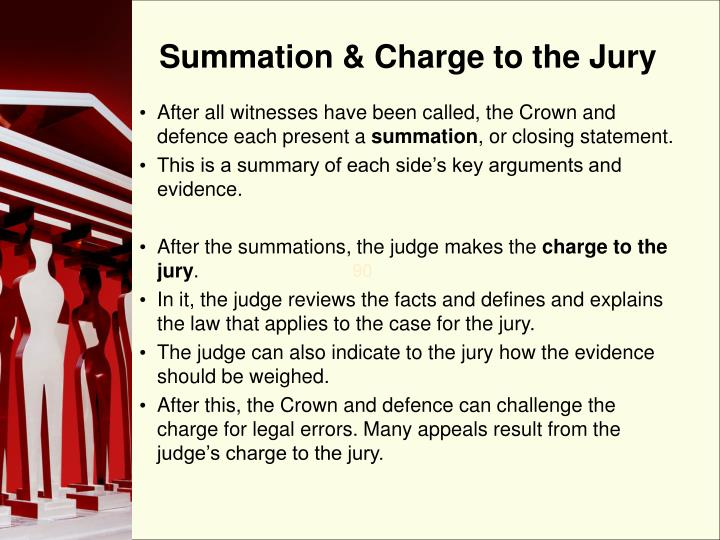 Summation & Charge to the Jury