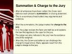 summation charge to the jury