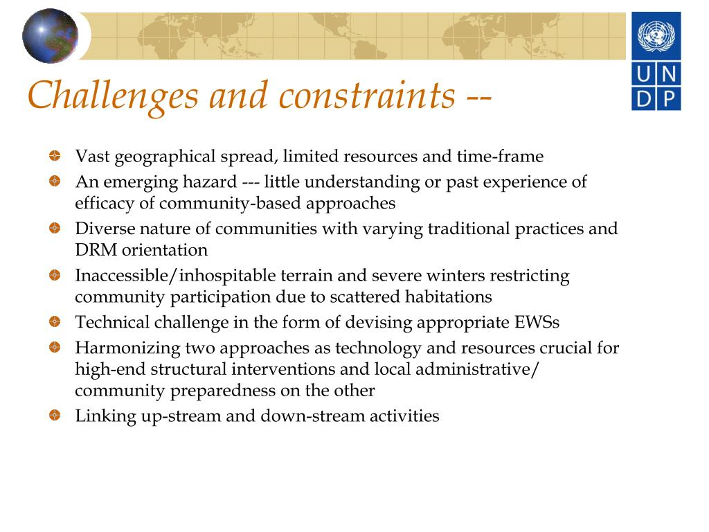 Challenges and constraints --